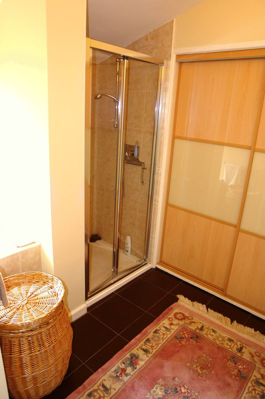 Dressing area with shower